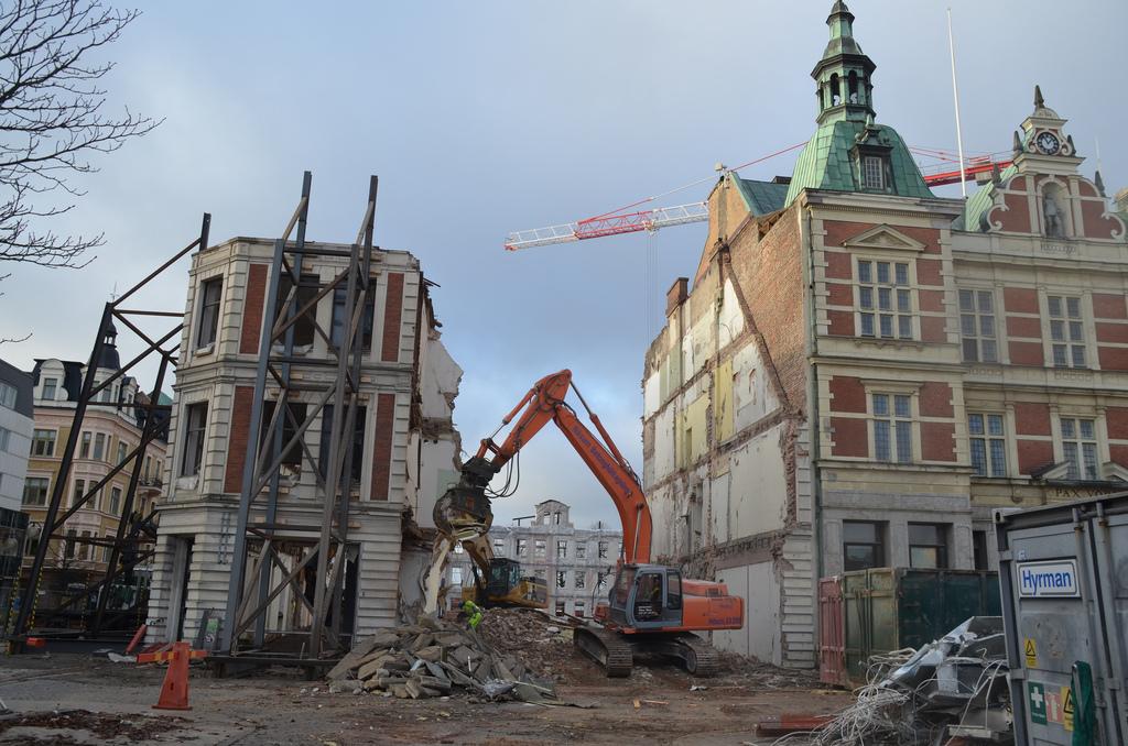 Kristianstads rådhuskvarter förstördes år 2013.