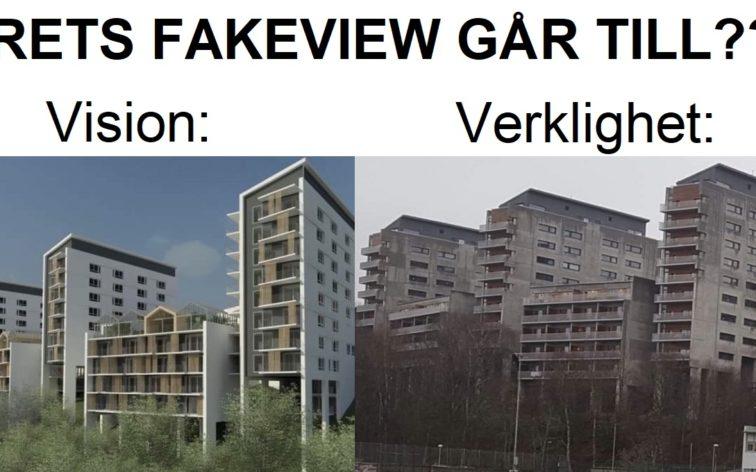 Vilken arkitekt ljög mest? Dvs vem ritade årets fake view?