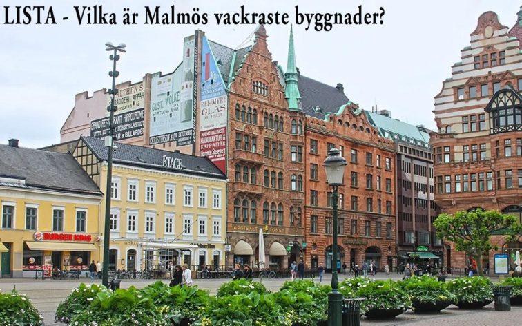 Lista - Malmös 50 vackraste byggnader.