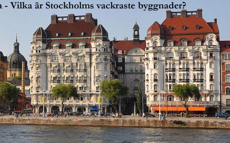 Lista - Stockholms vackraste byggnader.