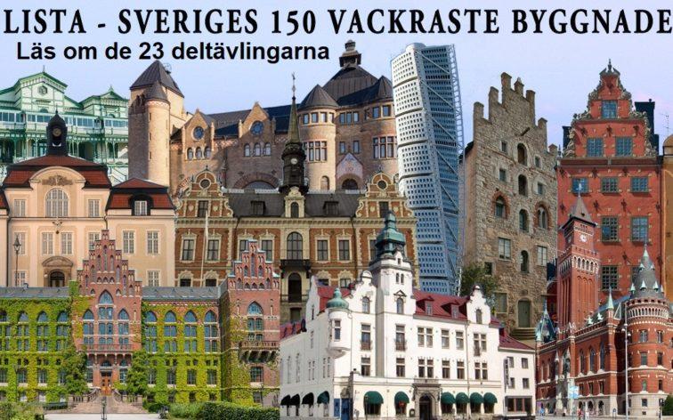 Sveriges vackraste byggnad. Läs om de 23 deltävlingarna.