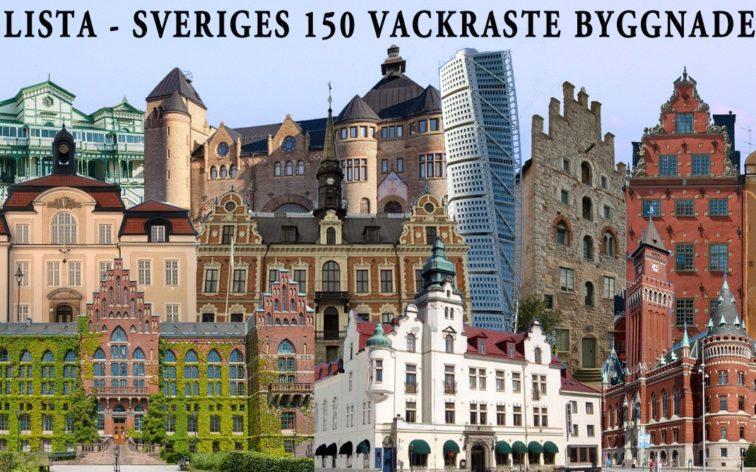 Lista - Sveriges 150 vackraste byggnader.