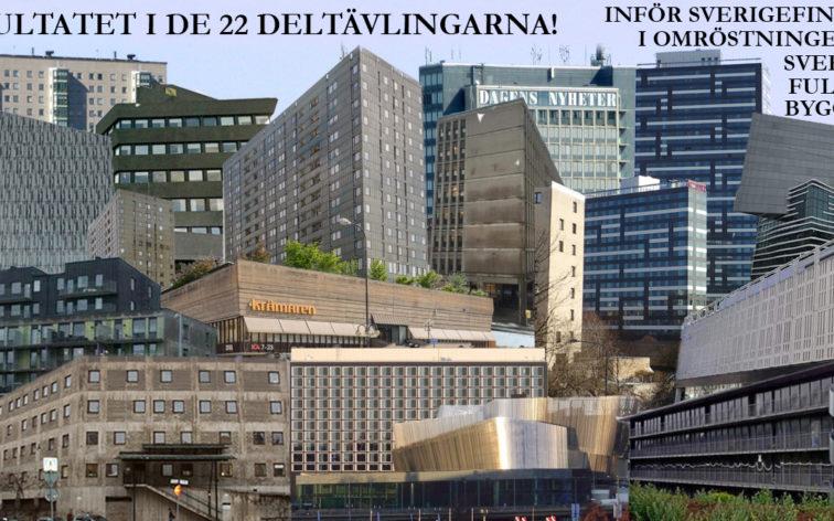 Sveriges vackraste byggnad. Läs om och se resultatet i de 22 deltävlingarna.