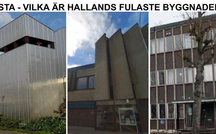 Lista - Hallands fulaste byggnader, dvs vackrast i Halmstad, Varberg, Falkenberg, Kungsbacka och Laholm.