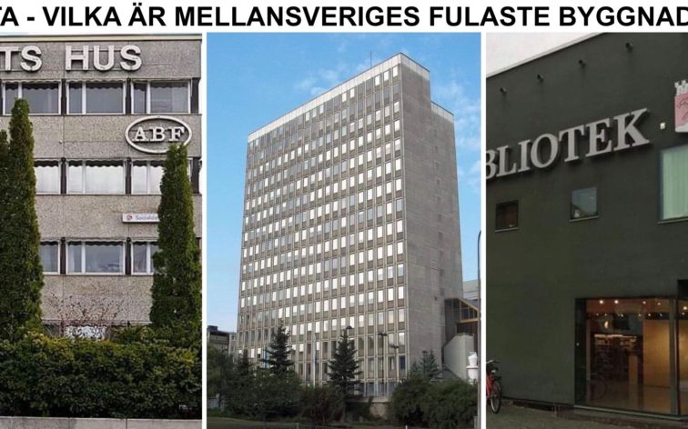 Lista - Mellansveriges fulaste byggnader, dvs fulast i Uddevalla, Skara, Skövde, Marstrand, Hjo, Lysekil, Vänersborg, Lidköping, Mariestad, Ulricehamn, Alingsås, Falköping, Trollhättan, Mölndal, Mölnlycke, Kungälv, Åmål, Strömstad m.fl.